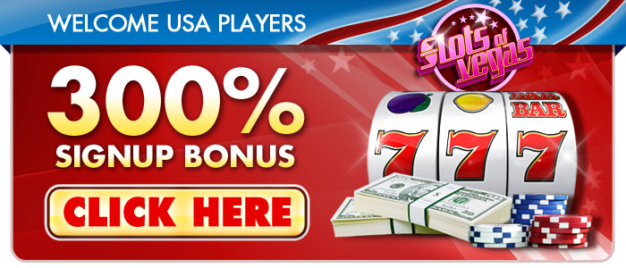 Slots of Vegas 300% Bonus USA Players Accepted