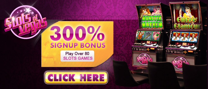 Slots of Vegas 300% Bonus to play Slots